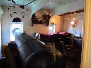 Now that's handy - HMS Warrior