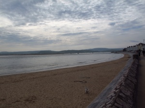 Exmouth beachfront looking decidedly overcast and cold!