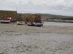 Ferries at low tide, St. Michaels Mount