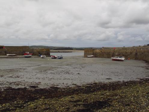 St Michaels Mount harbour at low tide