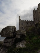 Hope that rock don't fall! St Michaels Mount, Cornwall