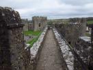 On the walls of Pembroke Castle, Wales
