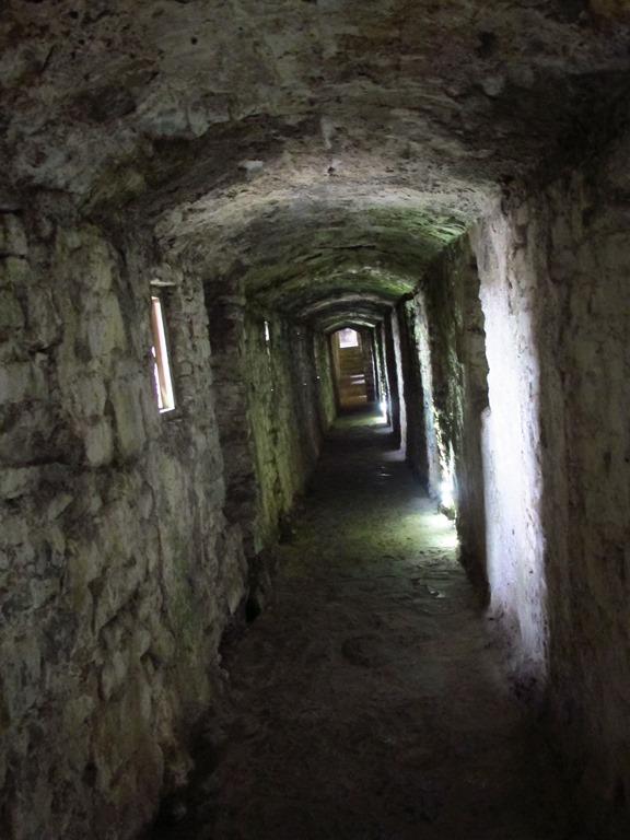 Corridors in Pembroke Castle, Wales