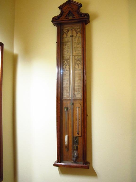 Old type barometer in pub at Pembroke