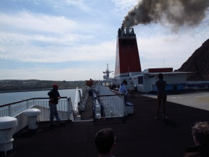 Firing up the engines on the ferry to Ireland - what pollution?