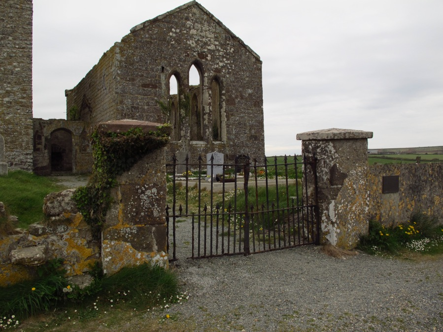 Derelict church and cemetery on the road to Hook Head, Ireland