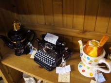 Just what everyone wants, a typewriter teapot!