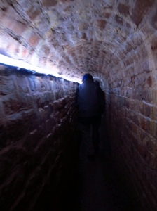 Underground passages Exeter, sorry about the dodgy pic, didn't want to get left behind