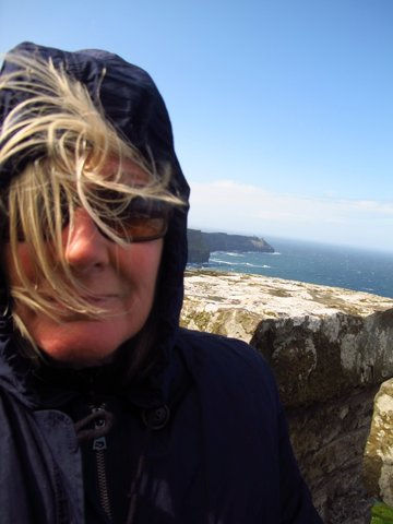 Selfie at the Cliffs of Moher