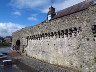 Spanish Arch and city walls in Galway, Ireland