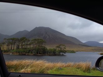 the Connemara between Galway and the coast of Ireland