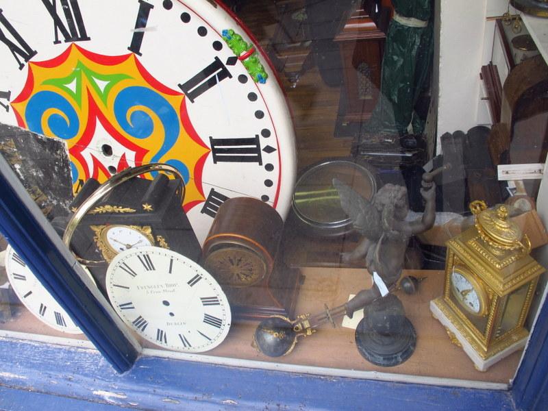 Window of a clock shop in Dublin