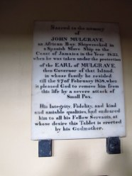 Interesting plaque in St Wehburgh's Church