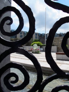 at the gardens of Dublin Castle
