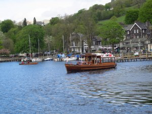 Tour boats on Lake Windemere, UK