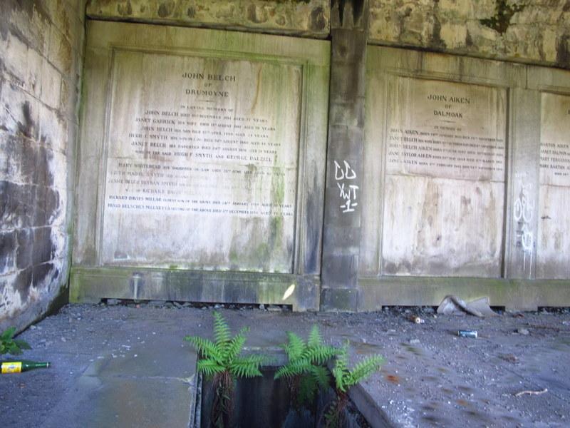 Looks like tomb raiders have visited! Glasgow Necropolis
