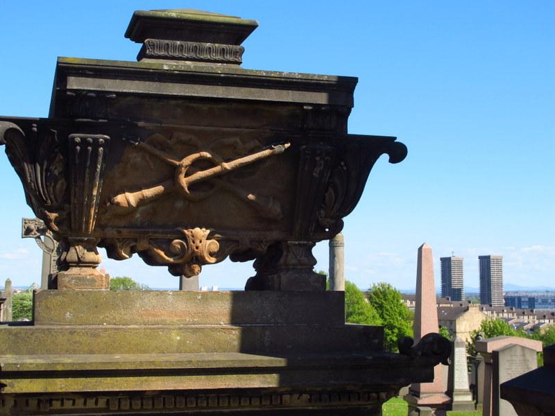 Flash decoration at the Necropolis, Glasgow
