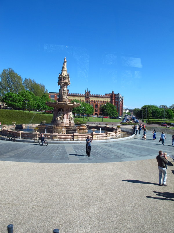 Doulton Fountain near the People's Palace, Glasgow