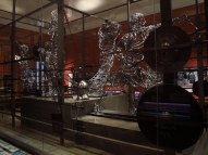 Steel wire sculptures, Kelvingrove Art Gallery and Museum, Glasgow