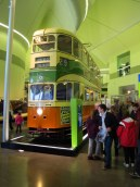 Double decker tram, Riverside Museum, Glasgow