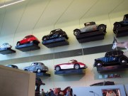 Real cars on the wall at Riverside Museum Glasgow