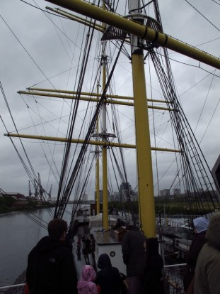 On the tall ship at Glasgow Riverside Museum