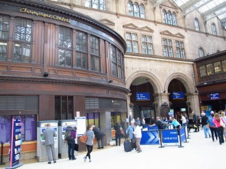 Part of hotel inside Central Station, Glasgow