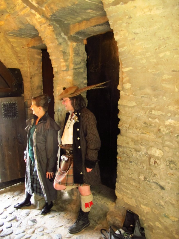 Guides at Eilen Donan Castle, Scotland
