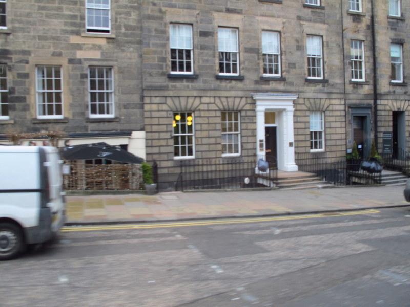 Hanging rubbish bags in Edinburgh