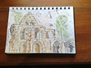 Sketch of ruins in Botanical Gardens, York