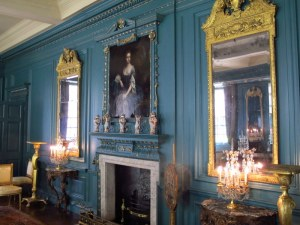 The blue room (of course) of Treasurer's House, York