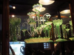 Green glass in York Castle Museum