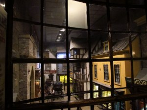 Looking down into Kirkgate St in York Castle Museum