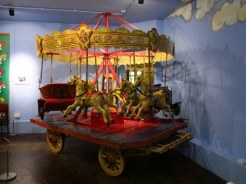 Mini carousel in York Castle Museum