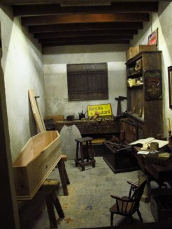 Coffin maker in Kirkgate St, York Castle Museum