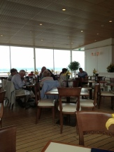 Cafe on board the Britannia