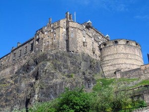 My first sight of Edinburgh Castle