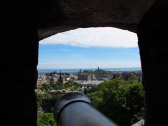 View from cannon mounts, Edinburgh Castle