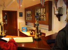 Fosters on tap on the Britannia!