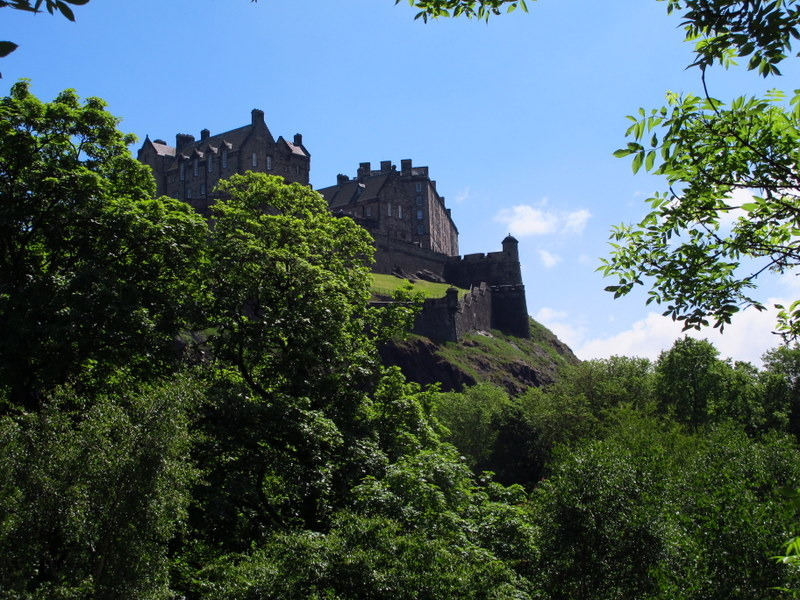 Edinburgh Castle from the city
