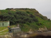 Bunkers from world wars on Inchcolm Island, Scotland