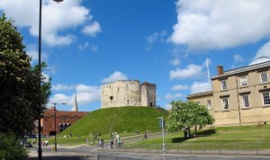 Clifford's Tower on top of it's own little hill