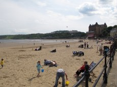 At the seaside in Scarborough, England