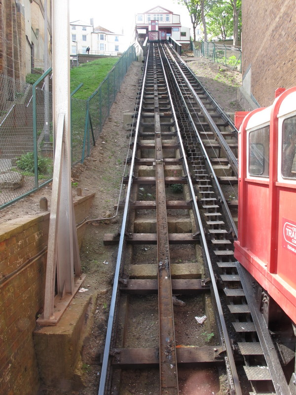 Tramway to the beach, Scarborough, England