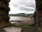 Towards the harbour from Scarborough Castle