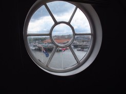 Capt. James Cook may have looked out this window, wow, how cool is that?