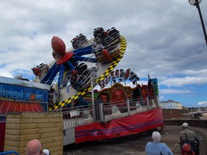 Amusement park on Bridlington beach