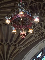 Light fitting in cathederal in Bath