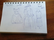 Quick sketches in the fashion museum