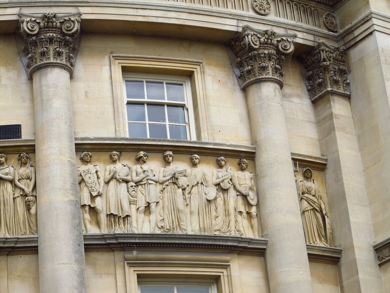 Detailing on a building in Bath